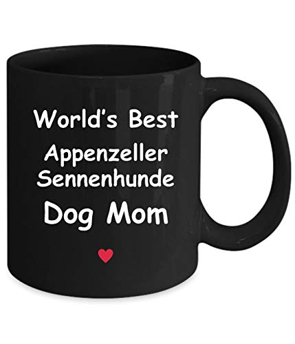 Gift For Appenzeller Sennenhunde Dog Mom - World's Best - Fun Novelty Gift Idea Coffee Tea Cup Funny Presents Birthday Christmas Anniversary Thank You Appreciation 11oz Black Mug 2