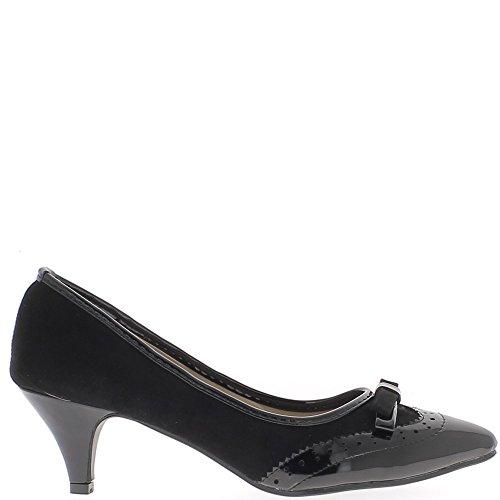 Schuhe Frau Bi Materialende schwarz 5,5 cm Absatz