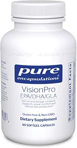 Pure Encapsulations - VisionPro EPA/DHA/GLA - Dietary Supplement to Support Natural Tear Production and Retention of Eye Moisture* - 90 Softgel Capsules