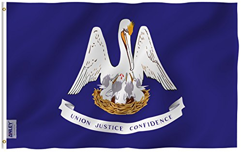 Anley Fly Breeze 3x5 Foot Louisiana State Flag - Vivid Color