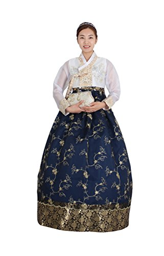 Hanbok Korea Traditional Costumes Women Junior Weddings Birthday Speical Ceremony co107 (66 (M) womens top) by Hanbok store