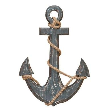 18  Wood Anchor with Crossbar Boat Decor