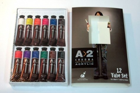 Chroma A>2 Lightfast Acrylic Paint Set, 20 ml Tube, Multiple