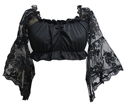 Coswe Women Steampunk Corset Crop Top Off Shoulder Tank Cami - Top Punk Tank