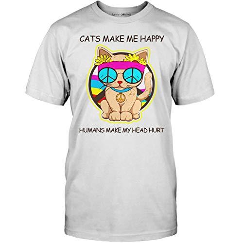 Cat Make Me Happy Humans Make My Head