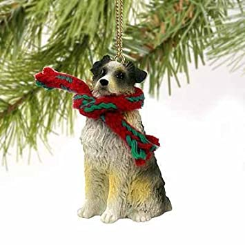 Australian Shepherd Tiny Miniature One Christmas Ornament Blue Docked Tail - Delightful! Conversation Concepts
