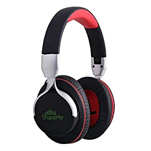 Over Ear Headphones, Mixcder ShareMe Bluetooth 4.1 Wireless Music Stereo Sports Running Foldable Earphones Volume Control Gaming Gym Headsets with Built-in Noise Cancelling Mic