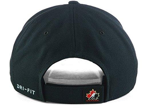 6e728f1d997 2018 Team Canada Hockey Nike IIHF Olympics Dri-Fit Wool Classic Adjustable Cap  Hat Black