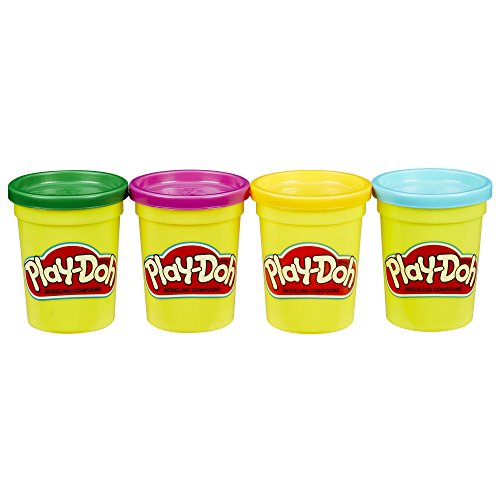 PLAY-DOH 4-PACK OF SECONDARY COLORS, Net WT 16oz