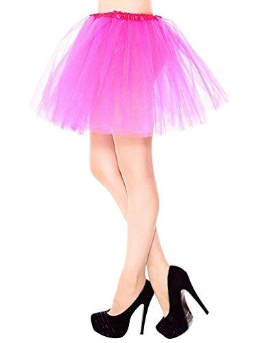 YouPue Femme 3 Couche Tulle Tutu Courte Jupe Ballet Princesse Jupon Jupe Costume De Danse Mini-jupe Se leva