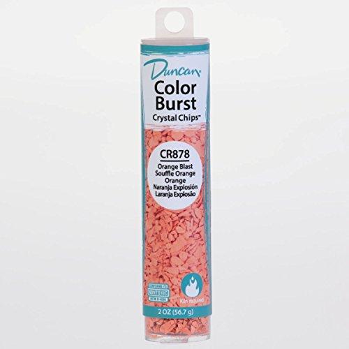 Duncan CR878 Color Burst Crystal Chips, Orange Blast, Add to Ceramic Glaze for Unique Effects After Kiln Firing