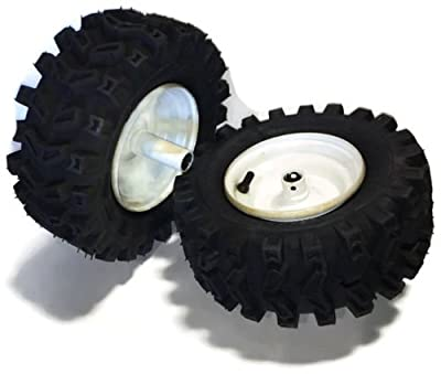 """fastoworld Set 2 7/8"""" Wheels 13X500X6 Tires Rims Snowblower Snow Blower Thrower Snowthrower"""