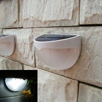 Bheema Solar 1 pieza (6 LED) luz al aire libre para valla ...