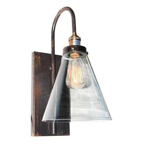 Artcraft Lighting Greenwich 1 Light Wall Bracket, Cone Shape Glass, Oil Rubbed Bronze - Sixteen Lamp Chandelier