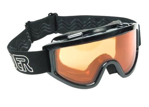 Raider Motorcycle and Snowmobile Dual Lens Goggle (Black, Size Adult), Outdoor Stuffs