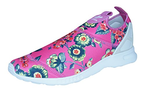 adidas Originals ZX Flux ADV Smooth Slip On Womens Sneakers/Shoes-Pink-5