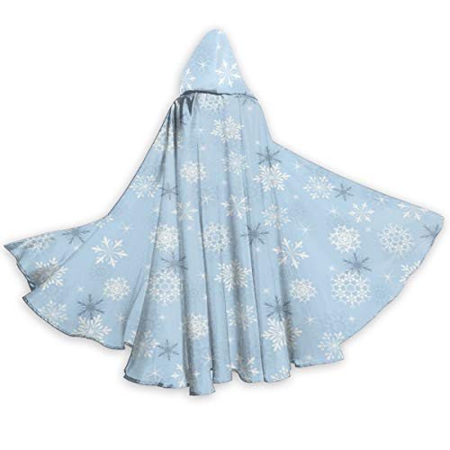 Adult Hooded Halloween Cloak Costumes Party Cape,Cold Weather in Winter New Year`s Eve Traditional Holiday Christmas ()