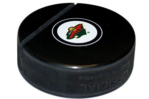 EBINGERS PLACE Minnesota Wild Hockey Puck Business Card Holder