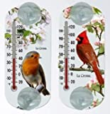 Best La Crosse Technology Outdoor Thermometers - La Crosse Technology 204-15201 Window Thermometers Bird Variety Review