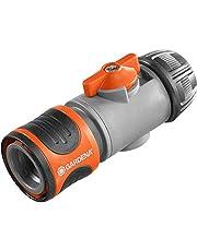 GARDENA regelventiel: Aansluitstuk voor het verwisselen van aansluitapparaten onder hoge waterdruk, regeling en afsluiting van de waterdoorvoer, bevestiging aan slanguiteinde, verpakt (2942-20)