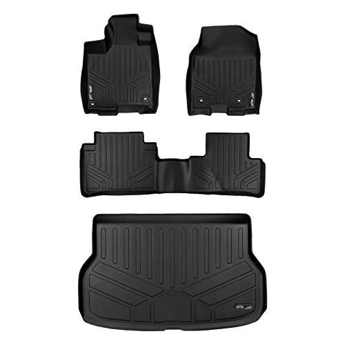 (SMARTLINER Floor Mats and Cargo Liner Set Black for 2013-2018 Acura RDX With 8-Way Front Passenger Seat)