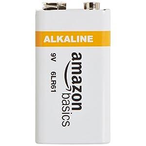AmazonBasics 9 Volt Everyday Alkaline Battery – Pack of 8