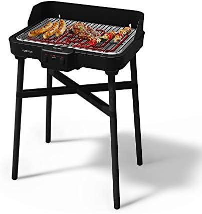 Klarstein Grillkern 2020 Edition - Gril électrique de table,Intérieur et extérirur, 2700 W : 800 et 900 W, 400°C, 3 zones de cuisson, Double élément chauffant, ReflectorBoost, noir