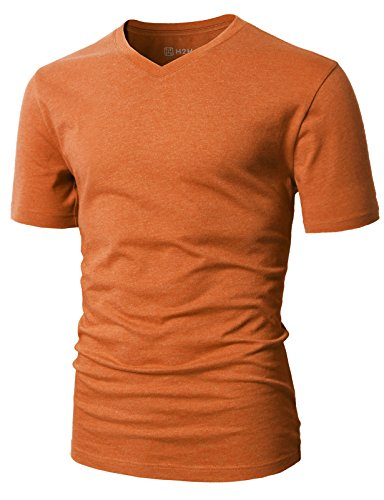 H2H Mens Men's ComfortSoft T-Shirt Orange US M/Asia L