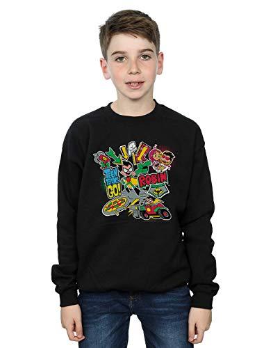 Teen Robin Sweatshirt Comics Boy Go Titans Schwarzes Montage Dc iuOPXZk