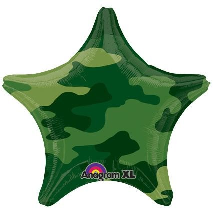 Army Themed Party Costumes (Amscan 1597801 Camouflage Foil Balloons)