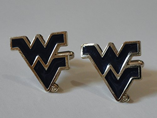 West Virginia University Cufflinks--Authorized Cuff Links
