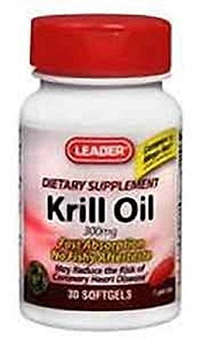 Leader Krill Oil 300mg , 30 Softgels Per Bottle (12 Pack)