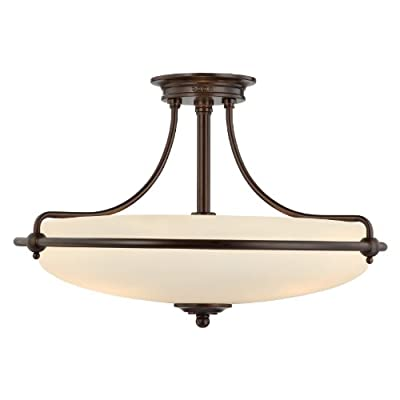 Quoizel Griffin 4 Light 21-Inch Semi Flush Mount