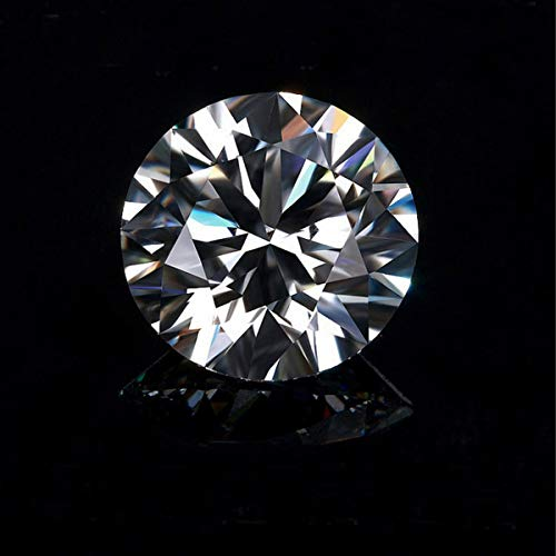 White Moissanite Diamond G Color 0.78cts 6mm Round Shape VS2 Clarity Wedding Jewelry