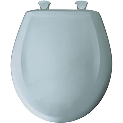 Bemis 200SLOWT 344 Lift-Off Plastic Round Slow-Close Toilet Seat, Heron Blue