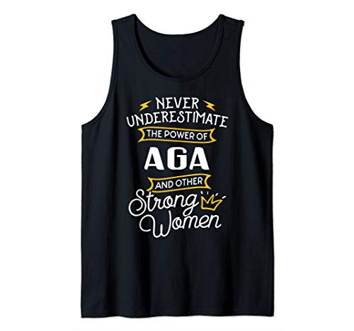 Funny Power of Grandma Aga Shirt Gift Idea Tank Top