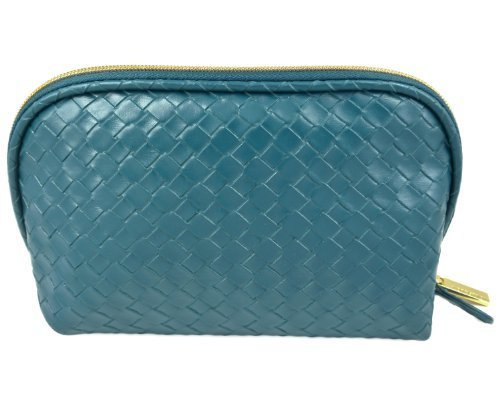 Price comparison product image Nordstrom Faux Leather Blue/Green Cosmetic Bag New 2013 by Nordstrom