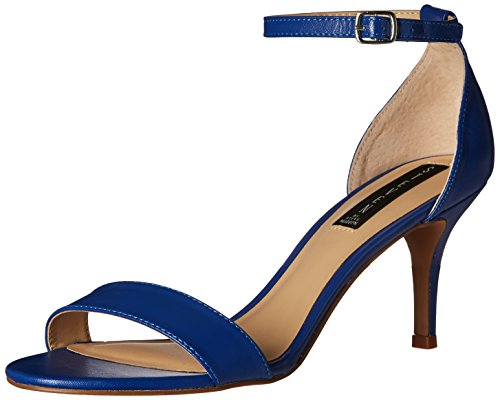 Women's Blue Leather Dress Madden STEVEN Steve Viienna by Sandal qBSAPB
