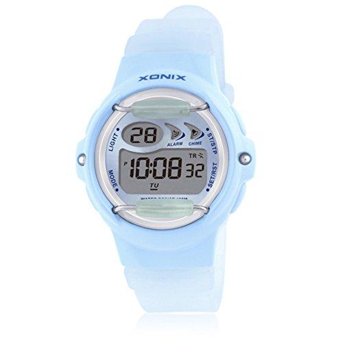 Children's multi-function jelly digital electronic watch, Led 100 m waterproof resin strap calendar alarm stopwatch girls or boys fashion wristwatch-A by CDKIHDHFSHSDH