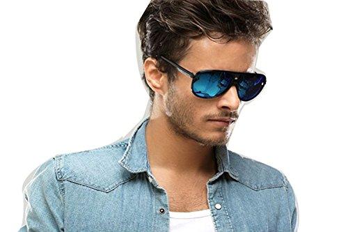 Darkey Wang Fashion New Couple Models UV Neutral Color Deep Blue Sunglasses