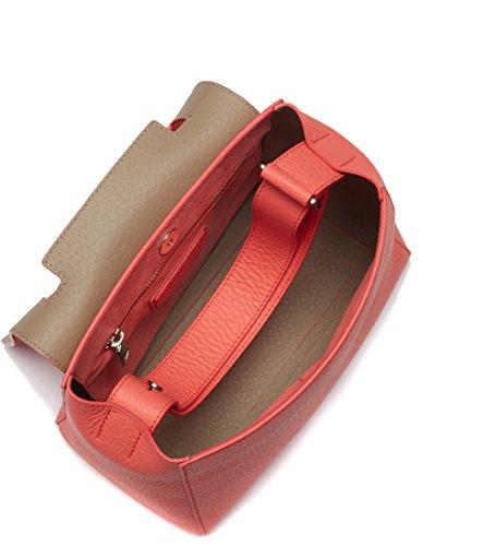 Sac à bandoulière Orciani en peau grainée couleur rouge géranium