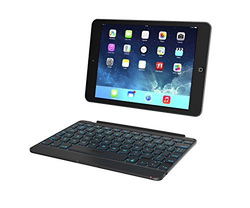 ZAGG Cover, Hinged with Blacklit Keyboard for iPad mini/iPad mini Retina - Space Grey by ZAGG
