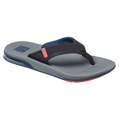 Reef. Mens SANDALS FANNING LOW, GREY/BLACK/RED-8