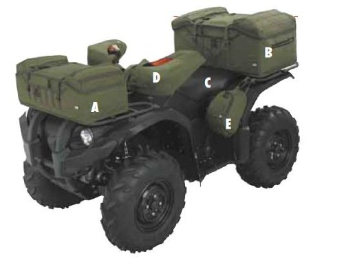 Atv Rack Ultimate - Classic Accessories 15-045-011405-00 QuadGear Olive MOLLE Style Front Rack ATV Bag
