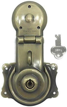 """2-1//4/""""  ANTIQUE TRUNK STEAMER OLD VINTAGE Flush Mount Cupboard Lock"""