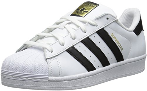adidas Originals Women's Superstar W Fashion Sneaker, White/Black/White, 6 M US (Adidas Star)