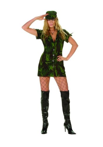 Military Girl Adult Halloween Costume Size Small 2-4 -