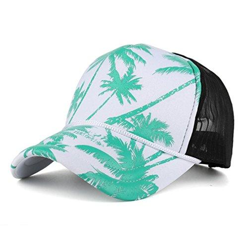 BIG HOT !Coconut Tree Printing Baseball Cap ,BeautyVan Fashion 1PC Women Men Coconut Tree Printing Hip Hop Flat Hat Baseball Cap