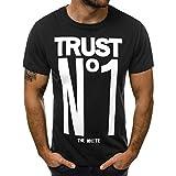 Winsummer Men Short Sleeve T-Shirt Casual Slim Fit Tshirts Summer Man Graphic Tee Shirts Tops Black