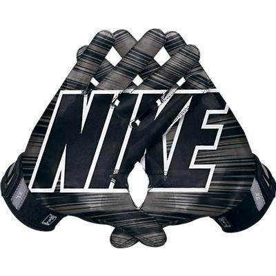 Men's Nike Vapor Jet 3.0 Reciever Football Gloves Black/Black/Metallic Dark Grey/White Size Small
